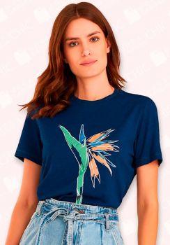 T-shirt Malha Silk Localizada